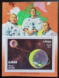 Poštovní známka Adžmán 1968 První let na Mìsíc Mi# Block 68 Kat 9€