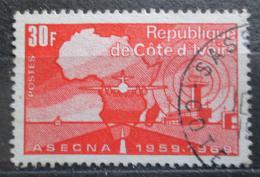 Poštovní známka Pobøeží Slonoviny 1969 Mapa Afriky Mi# 353