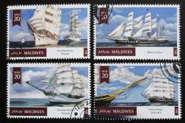 Poštovní známky Maledivy 2015 Plachetnice Mi# 5510-13 Kat 11€