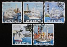 Poštovní známky Guinea-Bissau 2009 Lodì a majáky Mi# 4384-88 Kat 14€