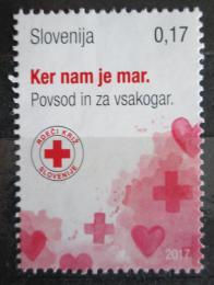 Poštovní známka Slovinsko 2017 Èervený køíž, daòová Mi# 81