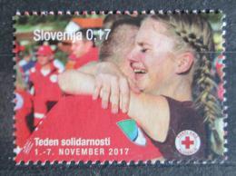 Poštovní známka Slovinsko 2017 Èervený køíž, daòová Mi# 83