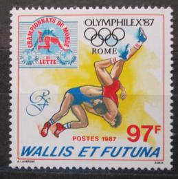 Poštovní známka Wallis a Futuna 1987 MS v zápase pøetisk Mi# 537