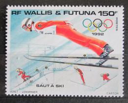 Poštovní známka Wallis a Futuna 1992 ZOH Albertville, skoky na lyžích Mi# 612