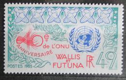 Poštovní známka Wallis a Futuna 1985 OSN, 40. výroèí Mi# 490