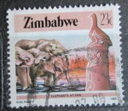 Poštovní známka Zimbabwe 1985 Sloni Mi# 321 A