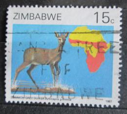 Poštovní známka Zimbabwe 1987 Chocholatka schovávaná Mi# 368