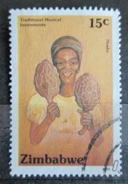 Poštovní známka Zimbabwe 1991 Hudební nástroj Hosho Mi# 454