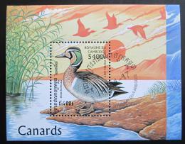 Poštovní známka Kambodža 1997 Kachny Mi# Block 227