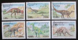 Poštovní známky Kambodža 1999 Prehistorická fauna Mi# 1937-42