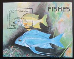 Poštovní známka Afghanistán 1998 Ryby Mi# Block 104