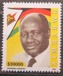 Poštovní známka Zimbabwe 2005 Bernard Chidzero, politik Mi# 824