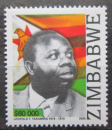 Poštovní známka Zimbabwe 2006 Leopold Tapfumaneyi Takawira Mi# 844