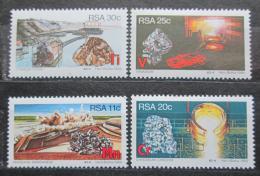 Poštovní známky JAR 1984 Tìžba nerostných surovin Mi# 647-50