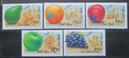 Poštovní známky JAR 1994 Ovoce Mi# 917-21 Kat 8€