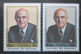 Poštovní známky JAR 1984 Prezident Pieter Willem Botha Mi# 659-60