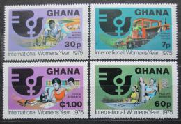 Poštovní známky Ghana 1975 Mezinárodní rok žen Mi# 605-08