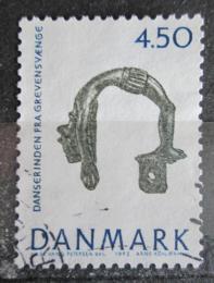 Poštovní známka Dánsko 1992 Archeologické nálezy, taneènice Mi# 1019