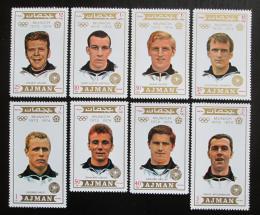 Poštovní známky Adžmán 1971 LOH Mnichov, fotbalisti Mi# 1237-44