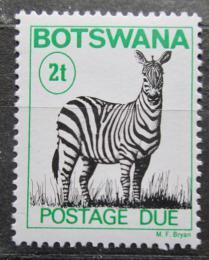 Poštovní známka Botswana 1989 Zebra stepní, doplatní Mi# 19