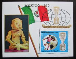 Poštovní známka Manáma 1970 MS ve fotbale Mi# Block 57 A Kat 9€