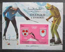 Poštovní známka Šardžá 1971 ZOH Sapporo Mi# Block 86