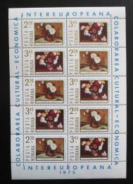Poštovní známky Rumunsko 1975 Umìní, kvìtiny Mi# 3258-59 Bogen Kat 12€