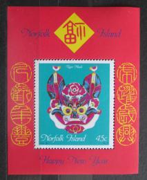 Poštovní známka Norfolk 1998 Èínský nový rok, rok tygra Mi# Block 22