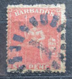 Poštovní známka Barbados 1868 Britannia Mi# 9 b Kat 22€