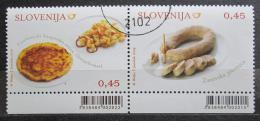 Poštovní známky Slovinsko 2009 Místní kuchynì Mi# 748-49