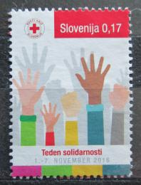 Poštovní známka Slovinsko 2016 Èervený køíž, daòová Mi# 80