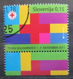 Poštovní známka Slovinsko 2011 Èervený køíž, daòová Mi# 65