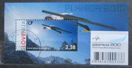 Poštovní známka Slovinsko 2010 MS v letech na lyžích Mi# Block 47