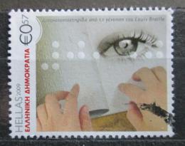 Poštovní známka Øecko 2009 Louis Braille Mi# 2507