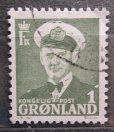 Poštovní známka Grónsko 1950 Král Frederik IX. Mi# 28
