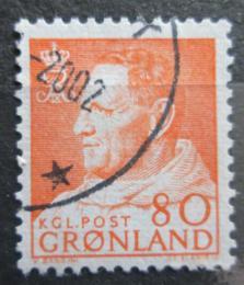 Poštovní známka Grónsko 1963 Král Frederik IX. Mi# 57