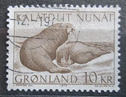Poštovní známka Grónsko 1973 Mrož lední Mi# 83