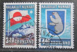 Poštovní známky Grónsko 1989 Vnitøní autonomie, 10. výroèí Mi# 195-96