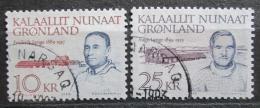 Poštovní známky Grónsko 1990 Politici Mi# 209-10 Kat 11€