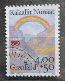 Poštovní známka Grónsko 1992 Duha nad krajinou Mi# 228 Kat 3.50€