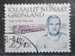 Poštovní známka Grónsko 1990 Augo Telef Nis Lynge, politik Mi# 210 Kat 7.50€