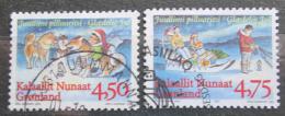 Poštovní známky Grónsko 1997 Vánoce Mi# 313-14