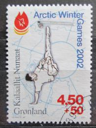 Poštovní známka Grónsko 2001 Arktické zimní hry Mi# 365