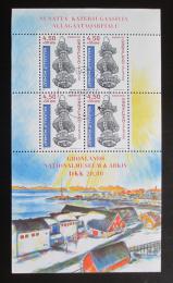 Poštovní známky Grónsko 1999 Grónské národní muzeum Mi# Block 16