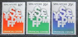 Poštovní známky Singapur 1981 Monetární samospráva, 10. výroèí Mi# 373-75