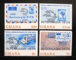 Poštovní známky Ghana 1974 Výstava INTERNABA Mi# 556-59