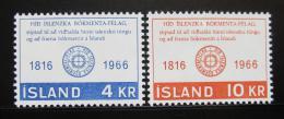 Poštovní známky Island 1966 Literární spoleènost Mi# 406-07