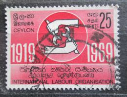 Poštovní známka Cejlon 1969 ILO, 50. výroèí Mi# 386