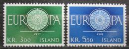 Poštovní známky Island 1960 Evropa CEPT Mi# 343-44