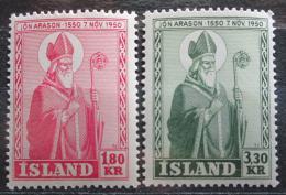 Poštovní známky Island 1950 Biskup Arason Mi# 271-72